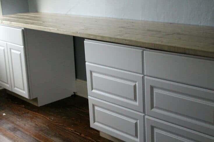Ten Foot Office or Craft Room Desk Tutorial