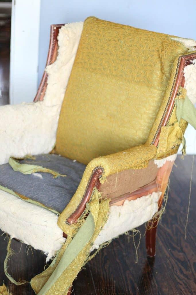 striping an outdated chair