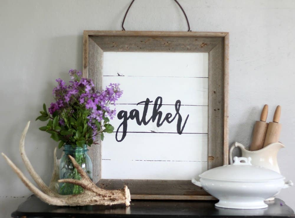 painted signs add farmhouse style to any home