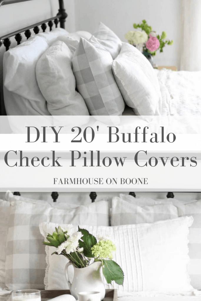 DIY 20' Buffalo Check Pillow Covers - Farmhouse on Boone
