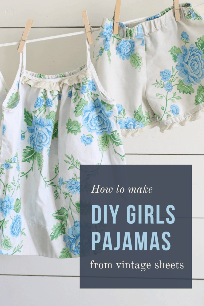 pajamas from vintage sheets sewing tutorial