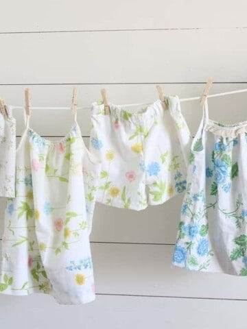 How to Sew Girls Pajamas from Vintage Sheets