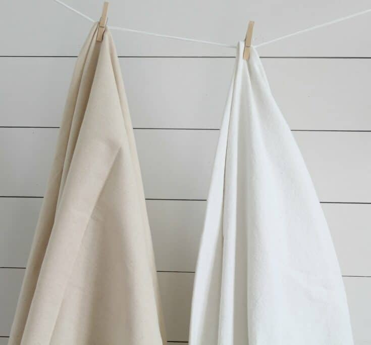 How to Bleach Drop Cloth to Make it Perfectly Soft and White