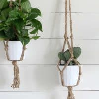 Simple DIY Macrame Plant Hanger with Video Tutorial
