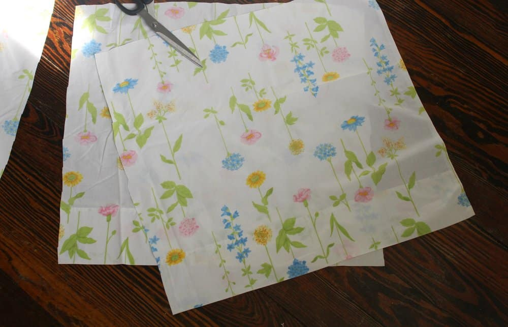 vintage sheet fabric cutouts