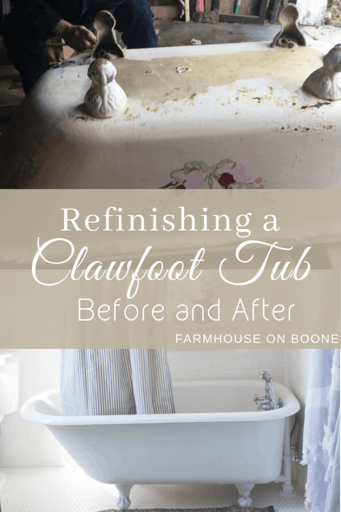 refinishing a clawfoot tub before and after