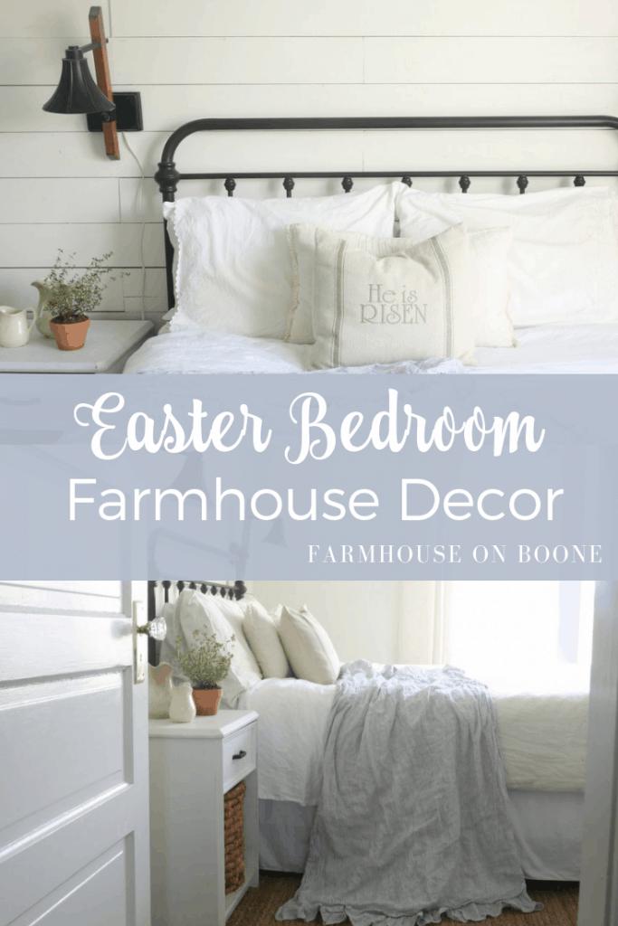 easter bedroom farmhouse decor