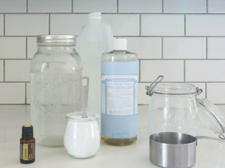 Homemade Nontoxic Bathroom Scrub Cleaner