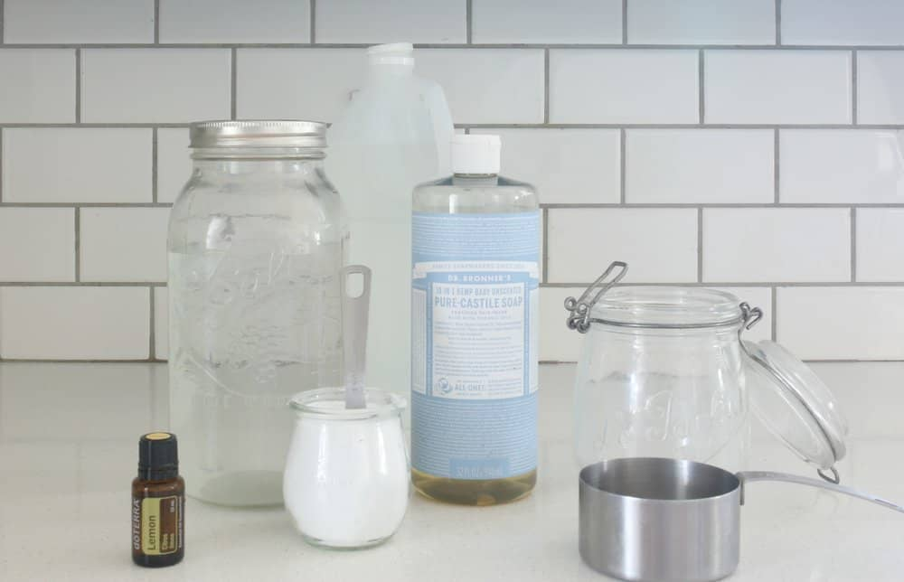 Homemade Nontoxic Bathroom Scrub Cleaner