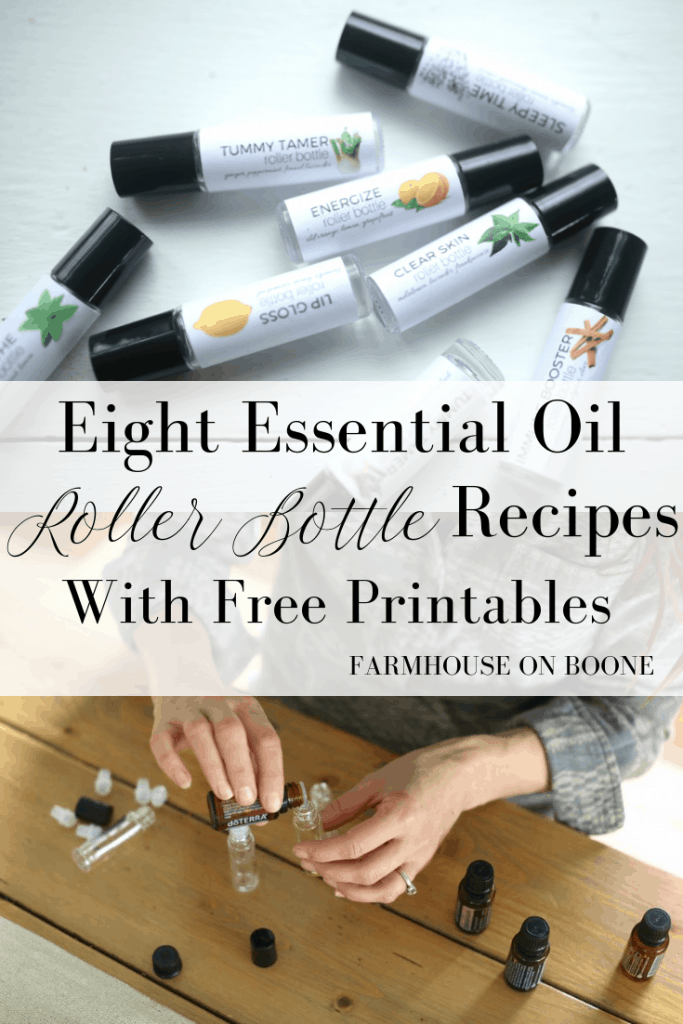 Eight Essential Oil Roller Bottle Recipes With Free Printables