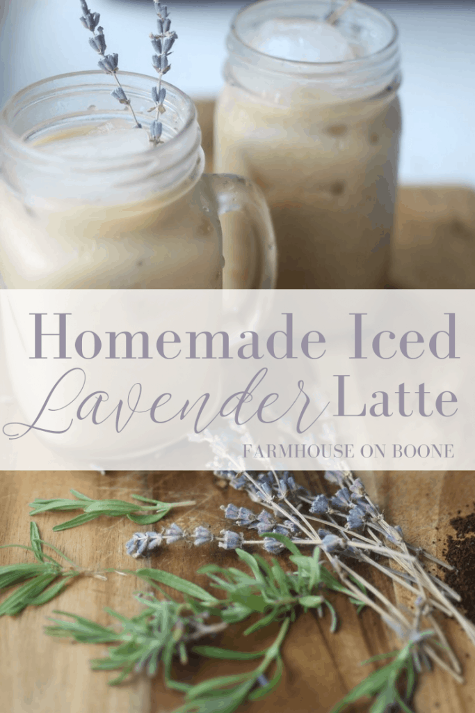 homemade iced lavender latte