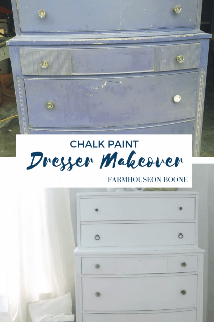 Linen White Chalk Paint Dresser Makeover