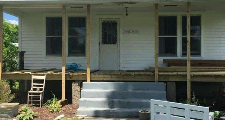 Curb Appeal Makeover Porch Progress- Demo!