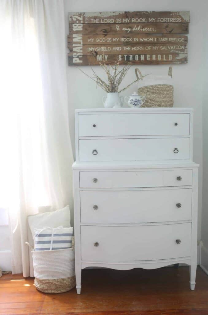 Linen White Chalk Paint Dresser Makeover Farmhouse On Boone