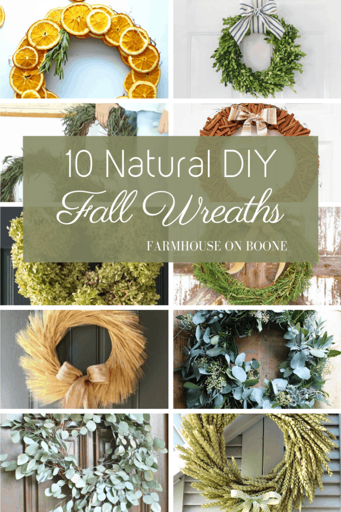 10 Natural DIY Fall Wreaths - Farmhouse on Boone
