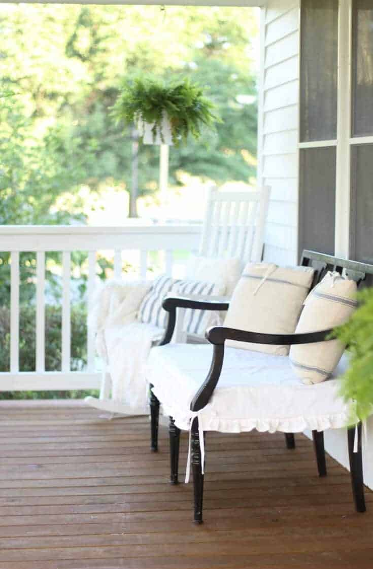 DIY How to Sew a Slipcover for a Wooden Bench
