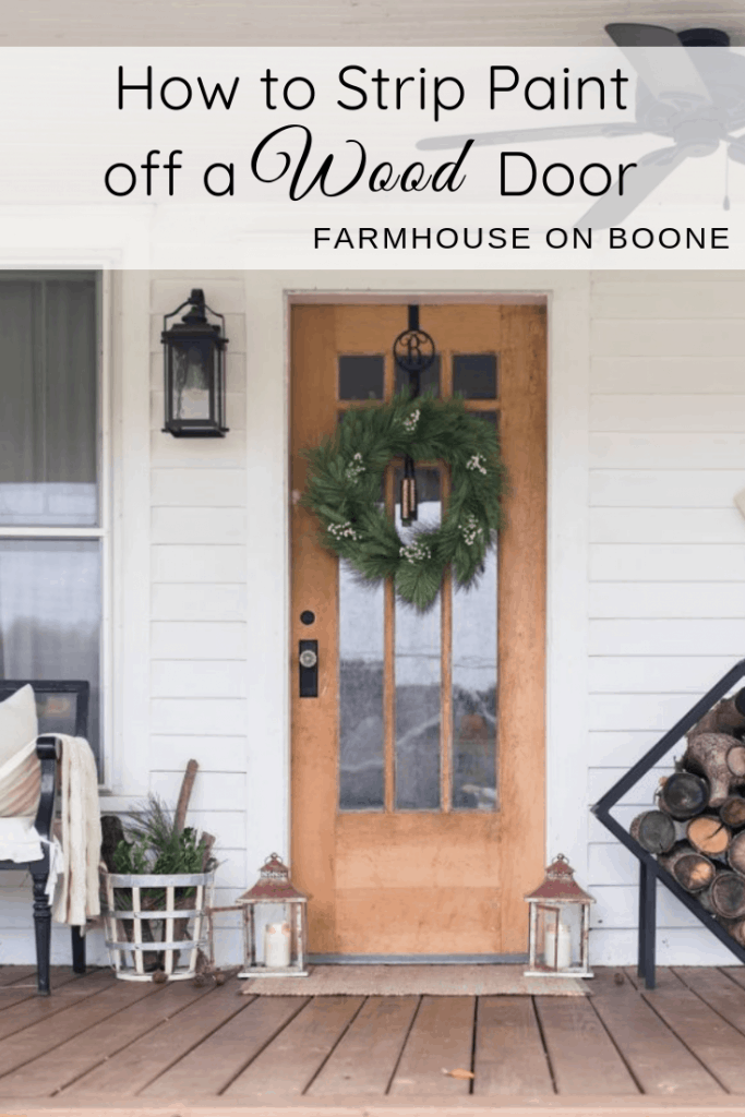 How to stripe paint from an antique door