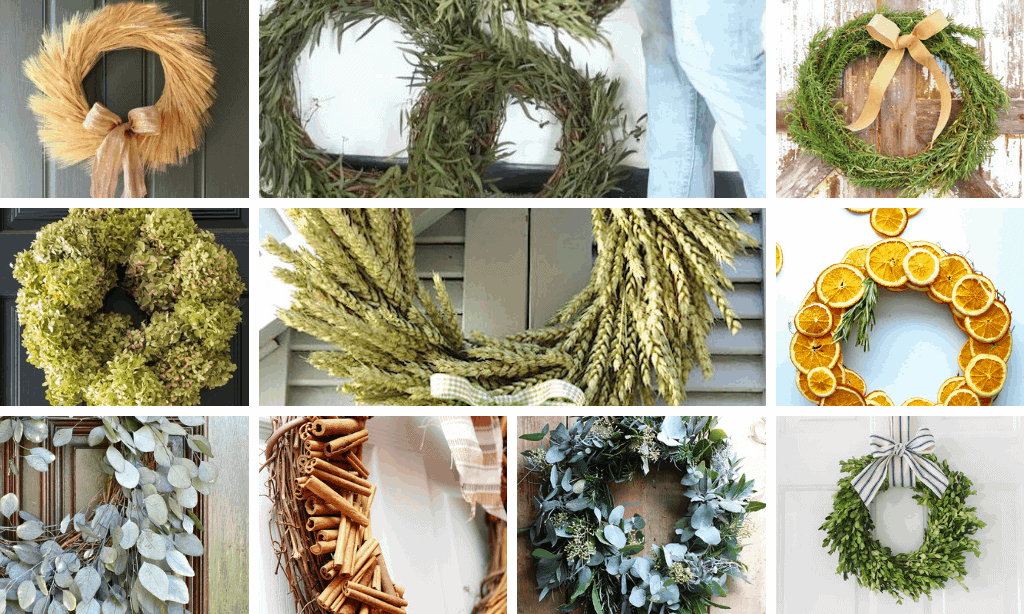 natural wreaths for fall