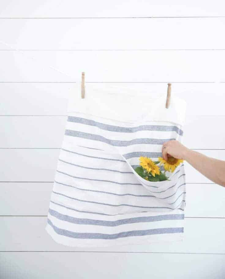How to Make an Apron from IKEA Tea Towels