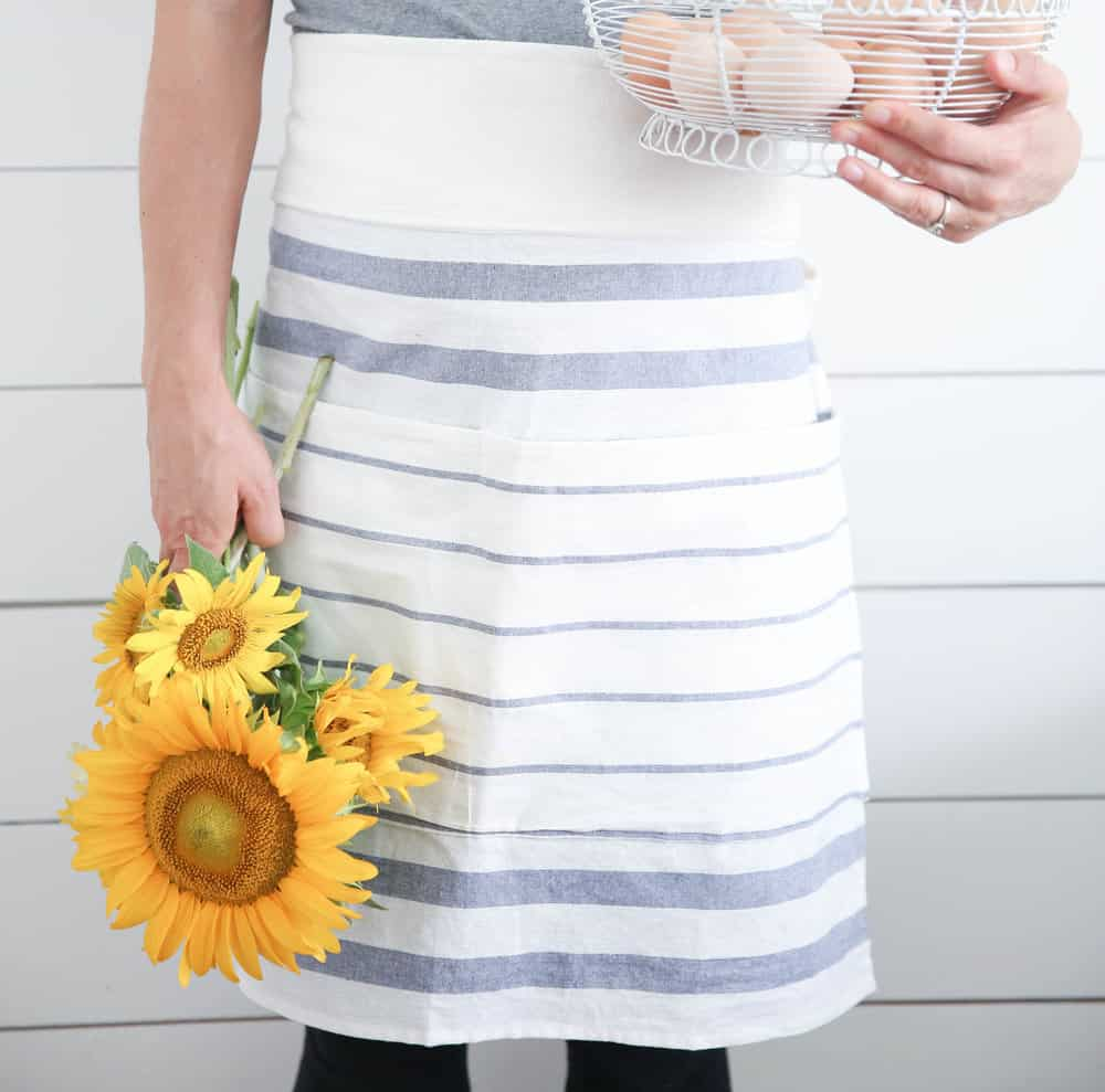 diy IKEA apron sewing tutorial