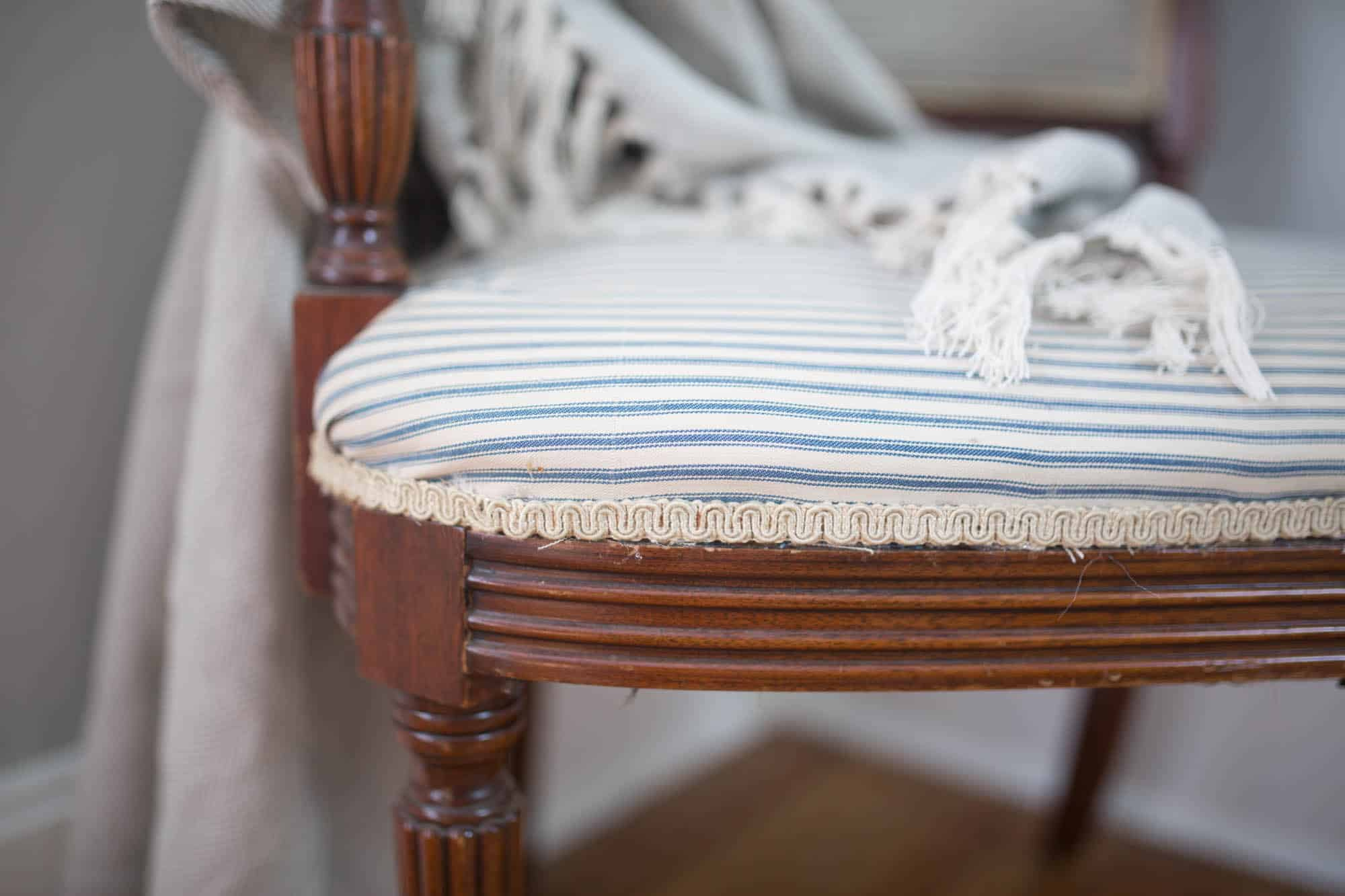 reupholster a chair with this simple video tutorial.