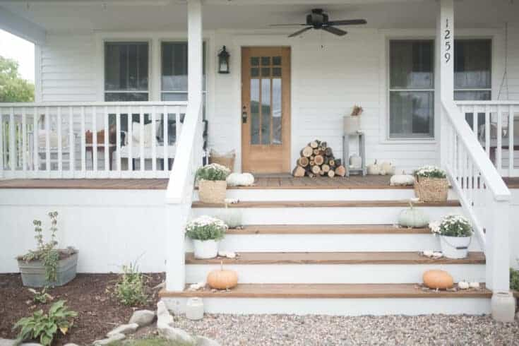Fall Farmhouse Front Porch