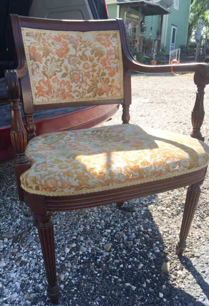 Learn how to reupholster a chair to transform something ugly into something beautiful.