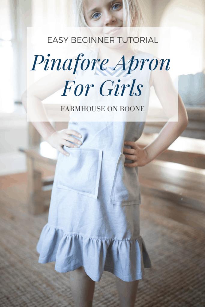 DIY Pinafore Apron for Girls