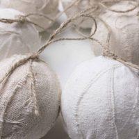 DIY Drop Cloth Rag Ball Homemade Christmas Ornaments