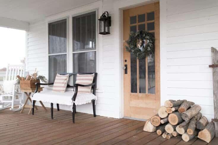 Farmhouse Christmas Front Porch Decor