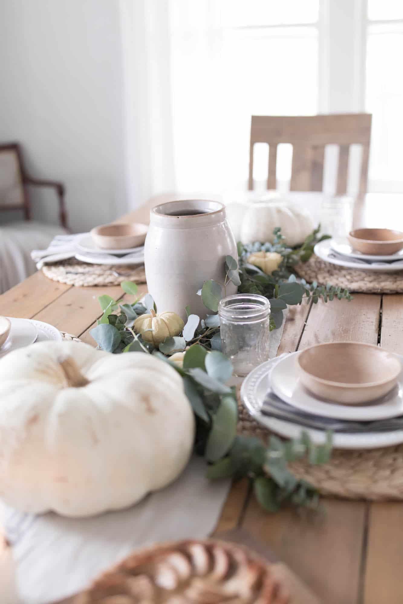 Farmhouse Thanksgiving Table Decor - Farmhouse on Boone