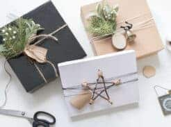 Scandinavian Christmas Gift Wrapping Ideas with DIY Twig Stars