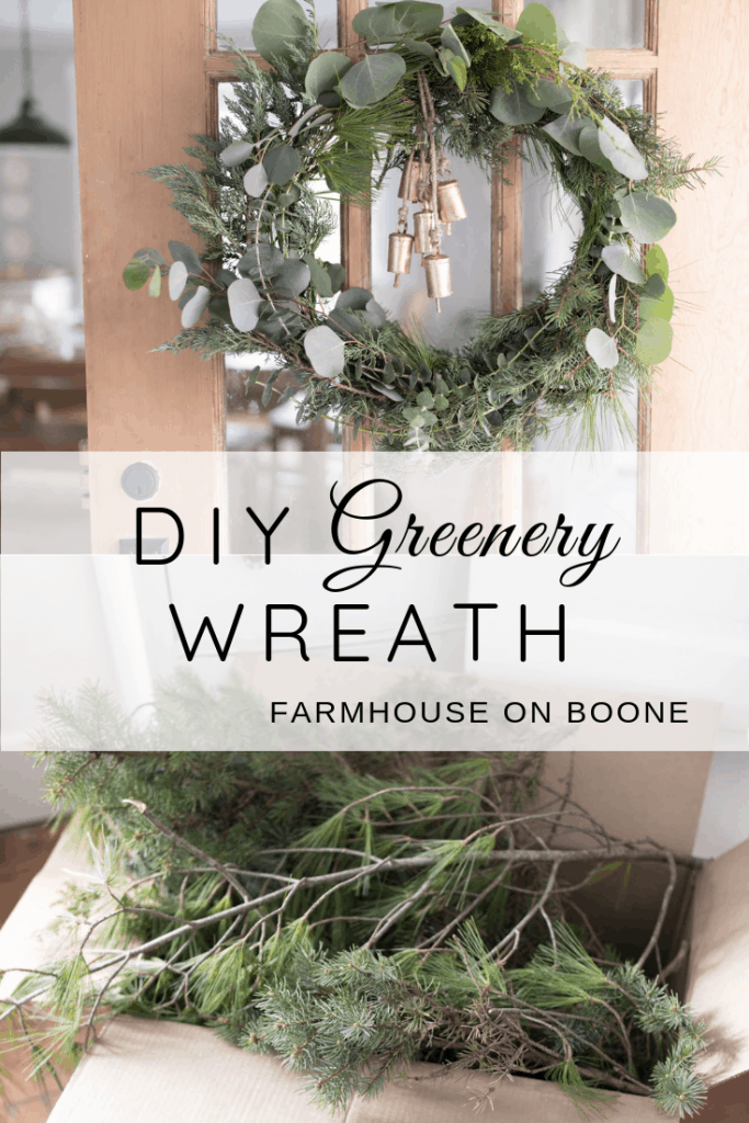 How to make a greenery wreath for christmas diy greenery wreath