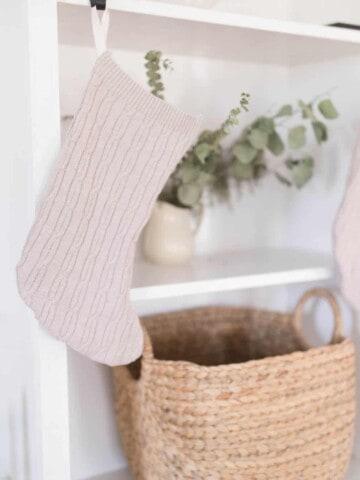 DIY Christmas Stockings from Sweaters Simple Video Tutorial