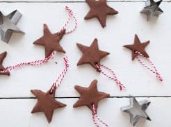 DIY Applesauce Cinnamon Ornaments Christmas tradition with kids
