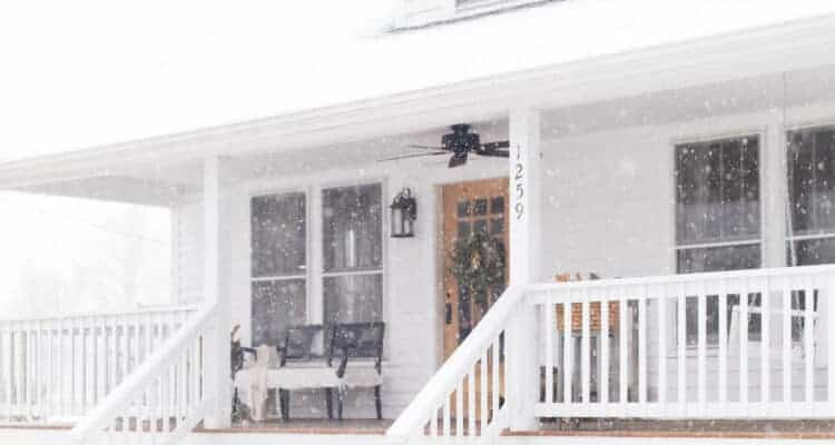 Our Farmhouse in the Snow