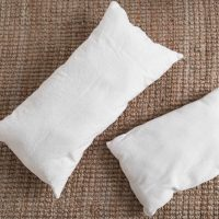 How to Sew a Pillow Insert with Drop Cloth