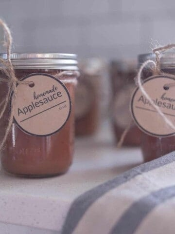 Instant Pot Applesauce with Free Printable Label