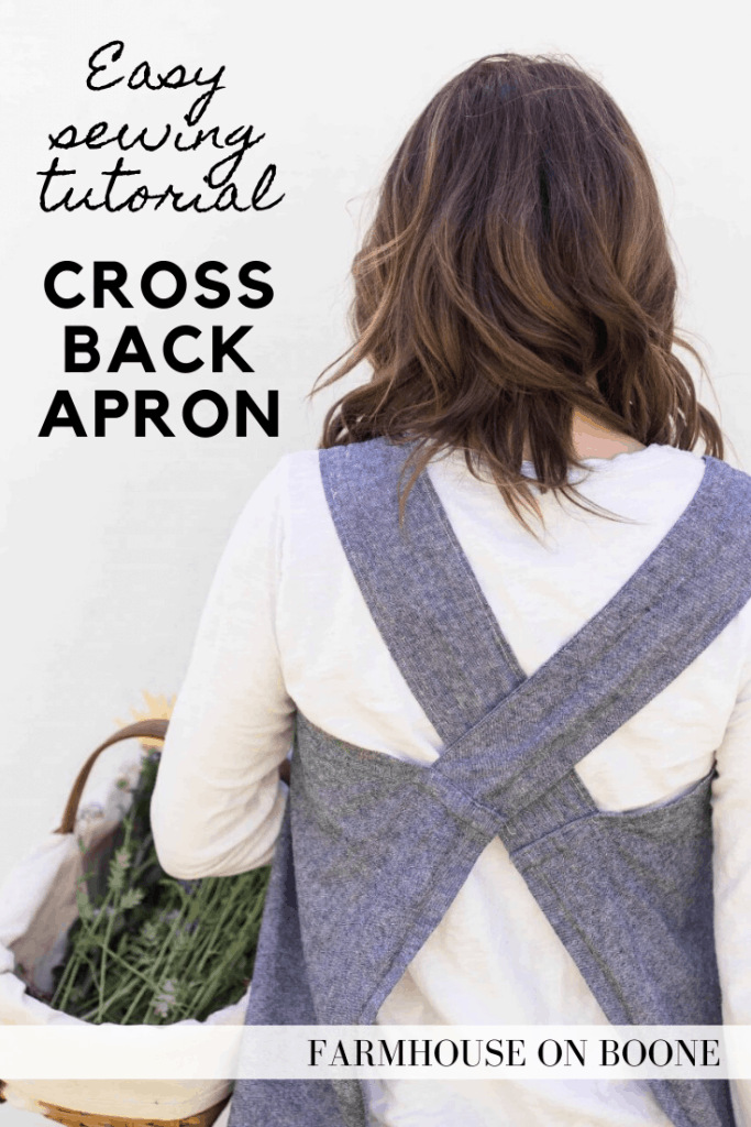 cross back apron back view with text
