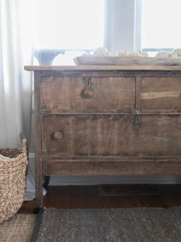 strip paint from an antique dresser