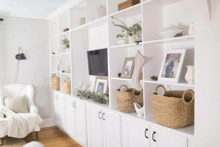 Winter Farmhouse Living Room