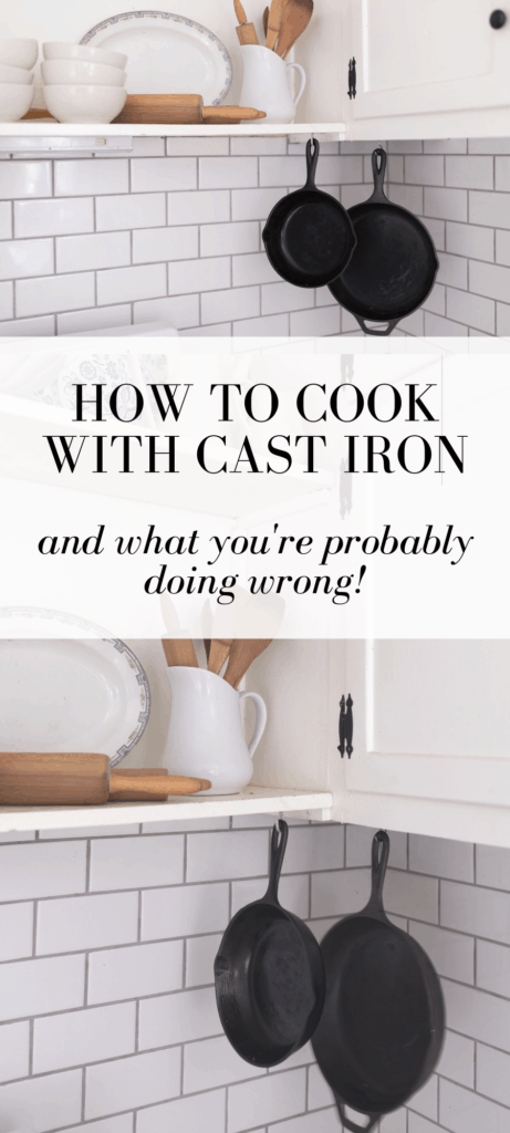 cast iron in farmhouse kitchen
