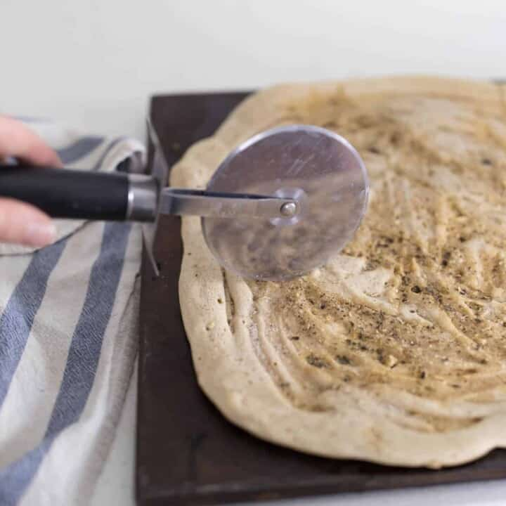 How to Make Easy Sourdough Pizza Crust with only Four Ingredients