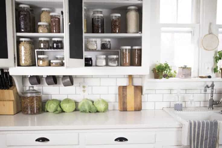 Pantry Organization with Mason Jars