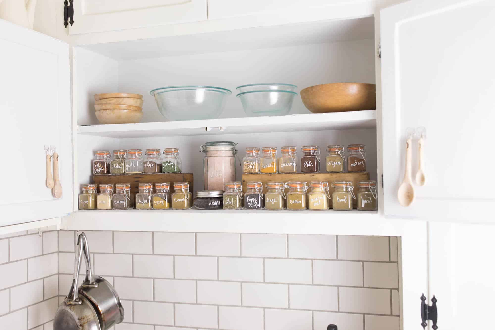 Spice Cabinet Organization - Farmhouse on Boone