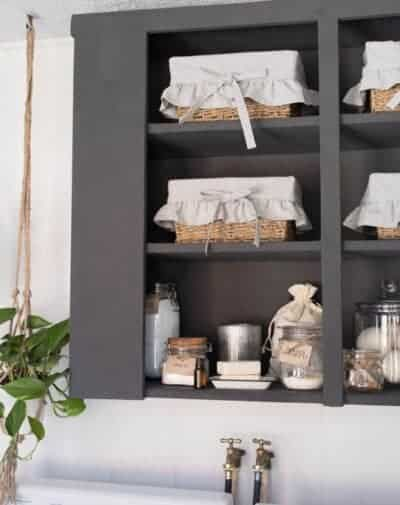 Farmhouse Laundry Room Makeover and Organzation Ideas from Farmhouse on Boone