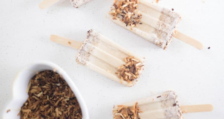 Toasted Coconut Popsicles dairy free gluten free