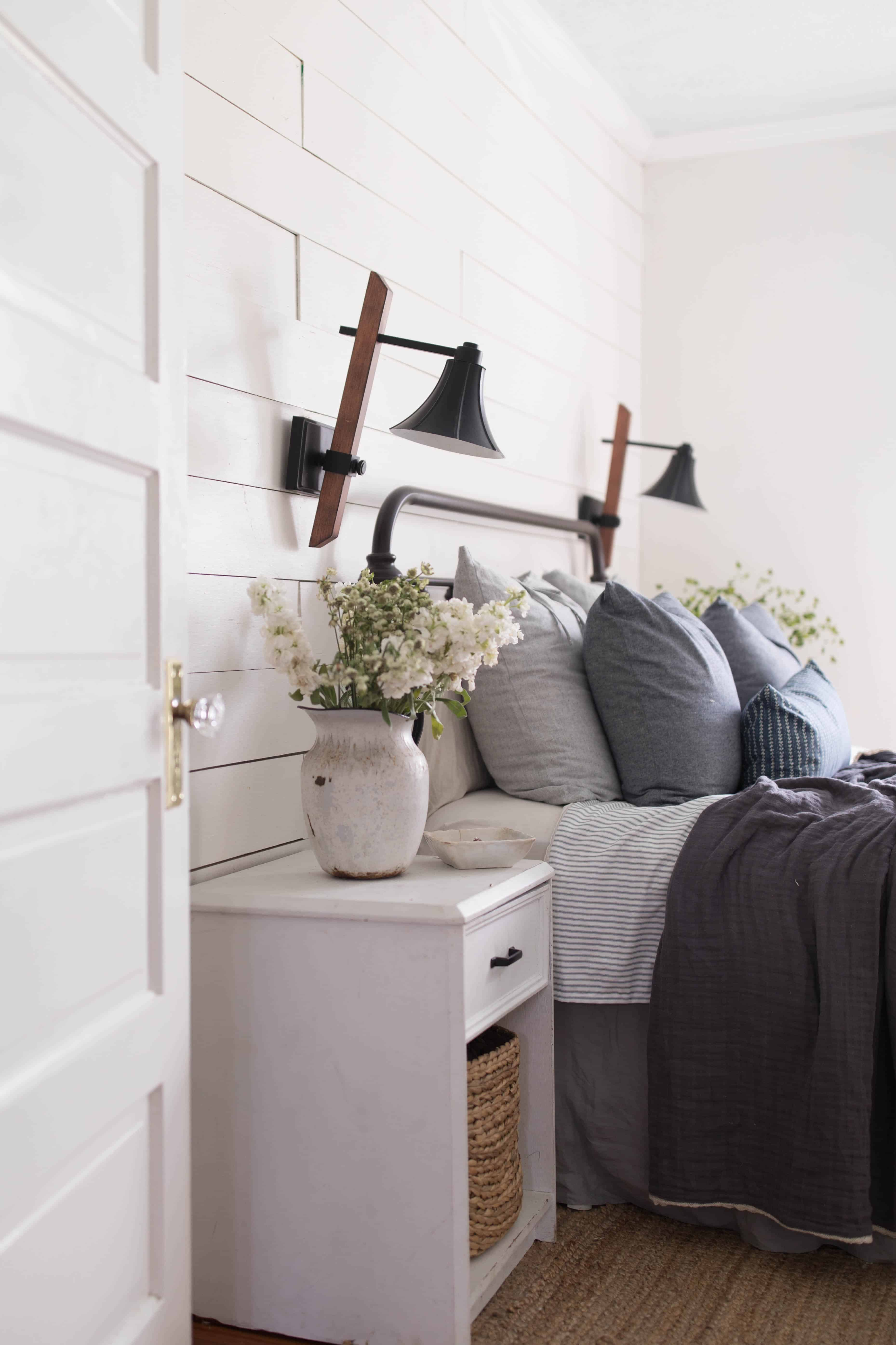 Summer bedroom farmhouse decor farmhouse on boone - How to design a small bedroom ...