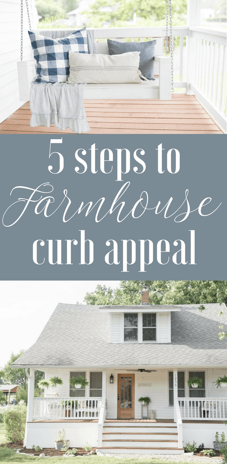 5 steps to simple farmhouse curb appeal