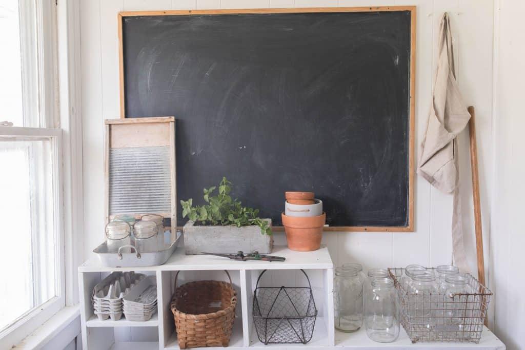 DIY concrete herb planter farmhouse mud room